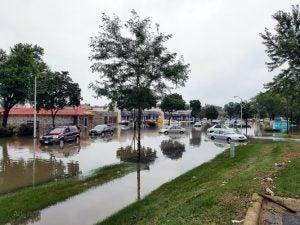 Inundaciones después de un Huracán